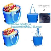 China promotional 16 cans insulated cooler tote bag outdoor picnic lunch freezable bag for camping beach travel bags, bagplast factory