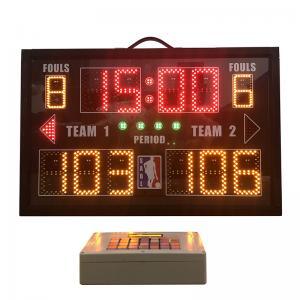 China Aluminum Portable Electronic Scoreboard , Baseball Field Scoreboard With Carry Handle factory