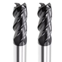 China 4 Flute Tungsten Carbide End Mill Length HRC65 Cnc Milling Cutter Tool factory