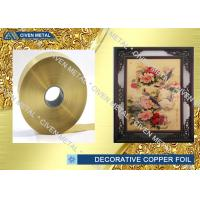 Buy cheap Copper Foil Decorative Copper Foil In Roll Size, Maximum Width is 400mm from Wholesalers