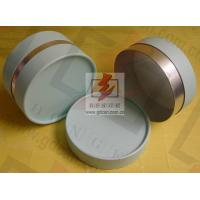 Buy cheap Small Composite Paper Cans Packaging UV Coating with Ribbon from Wholesalers