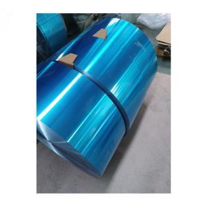 China Blue Color Hydrophilic Industrial Aluminum Foil Aluminium Foil Strip 8011-O 0.14mm factory