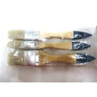 Wall Decor Painting Flat Paint Brush Sets , Long Handled Angled Paint Brushes