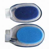 China Double-sided Pet Grooming with Plastic Brush and Sponge on Sides, Customized Logos are Accepted factory