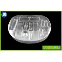 China PET Round Cosmetic Natural Plastic Packaging Tray , Transparent on sale