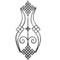 China gate decoration part wrought iron flower panel forged scroll panel factory