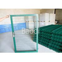 Buy cheap Green PVC Welded Wire Mesh Fence With Gates Easily Installation 0.4 - 2.5m Height from Wholesalers