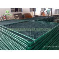 China Green Metal Temporary Fence Panels Anti - Rust For Domestic Housing Sites on sale