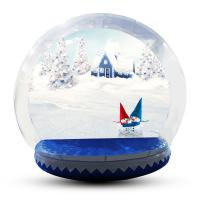 China Human Size Snowball Snow Globe / Giant Inflatable Christmas Globe For Festival factory