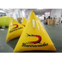 China Durable Inflatable Marker Buoy 1.0m Yellow / Orange Silk Printing factory