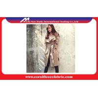 China Women Long Trench Jacket , Mid-Long Casual Cotton Polyster Windbreaker for Spring factory