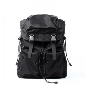 China 28L Black Nylon Backpack Travel Rucksack For Laptop factory