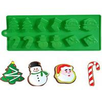 Buy cheap Christmas Tree Silicone Cake Molds With Snowman Santa Of 21.5 * 10 CM from Wholesalers