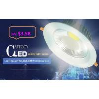 China COB LED Down Light with Epistar LED Isolated IC constant driver 3W/5W/7W/12W/15W CE RoHs factory