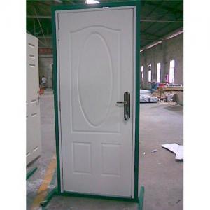 China High definition door,wooden edge metal panel door, residential steel door, interior metal door on sale
