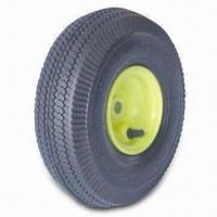 China Air Pneumatic Wheel, Measures 10-inch x 3.50-4 Tubeless, Ideal for Hand Trucks, Trolleys and Carts factory