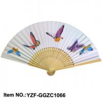 China Japanese Style Paper Hand Fan with Bamboo Ribs on sale