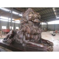 Buy cheap Antique imitation Best Copper Lion Sculpture for Outdoor decoration from Wholesalers