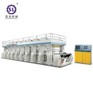 China Plastic Film 8 color Rotogravure Printing Machine Computer Control factory