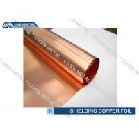 Buy cheap Single - Shiny ED Copper Foil For Shielding With Maximum Width 1290mm from wholesalers