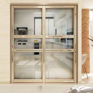 China Residential Aluminium Frame Glass Sliding Door Sound Insulation Powder Coating factory