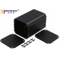 Buy cheap Black Color Custom Extruded Aluminum Enclosures Anodized Surface Finishing from Wholesalers