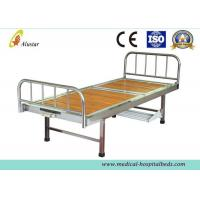 Wooden Surface Steel Frame Medical Crank Hospital Bed With Plastic Bowls (ALS-M116)