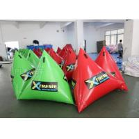 China Green Inflatable Marker Buoy / Inflatable Floating Water Park 3 Years Warranty factory