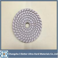 Quality 4 Inch Stone Granite Marble Wet Polishing Pads for Angle Grinder for sale