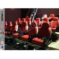 China Red Hydraulic Mobile Theater Chair For 7D Movie Theater 1 Year Guaranty factory