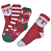 Buy cheap Polyester plush therapy foot spa socks Christmas theme Winter from Wholesalers