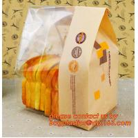 China Customize Translucent Window Brown Greaseproof Kraft Paper Bag Special Opp Window Shape, window bags, greaseproof paper factory