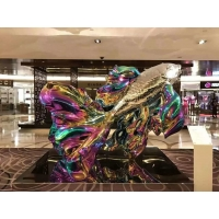 Buy cheap Colorful painted stainless steel statue sculptures ,customized art statue from wholesalers