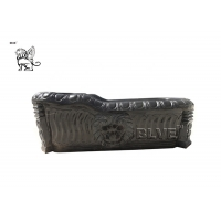 China Natural Solid Stone Black Marble Bathtub Freestanding For Sale factory