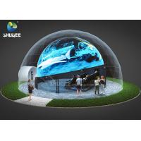 China 360 Mmersive Projection Dome Movie Theater With 16 Chairs Built On Playground factory