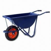 Buy cheap Wheelbarrow with Pb-free/UV Resistant Powder Coating and 100kg Loading Capacity from wholesalers