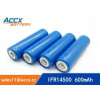 China shaver battery lithium ifr14500 3.2v 600mAh AA size factory