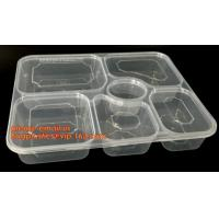 Buy cheap Disposable biodegradable plastic fiffin lunch box,compartment lunch box with lid,clamshell food packaging macaron pp bli from Wholesalers