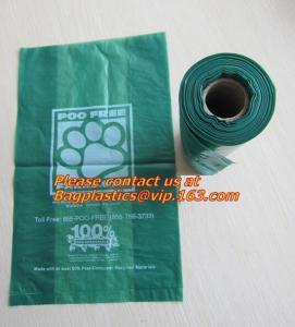 China trash bin liner,refuse sack, garden compost bag,bin liner, 100% biodegrable bag for food factory