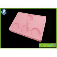 China Pink Tray PS Flocking Tray Plastic Packaging Tray For Cosmetic on sale