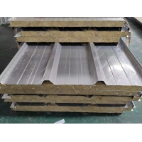 China Building Material 50mm Stainless Steel Rock Wool Sandwich Panel on sale