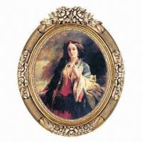 China PU Painting/Mirror Frame, Round Frame, Use for Wall Decor on sale