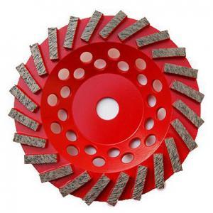 "China 7"" inch Concrete Diamond Grinding Wheel | Swirl Grinding Diamond Cup Wheel for Concrete | Extra Soft Diamond cup Wheel factory"