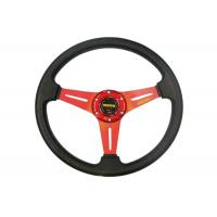China Auto Accessories PVC Shell Deep Dish Steering Wheel 350 Mm With Aluminum Stand on sale