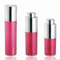 China Cosmetic Airless Bottles for Skin Care Cream, Various Colors are Available, OEM Orders are Welcome factory