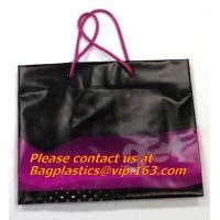 China prompt response printed soft loop handle ldpe polythene carry bags factory