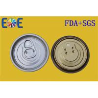 Buy cheap Food Grade Metal EOE Lids , Dry Food Aluminum Easy Open End 202# 52mm from Wholesalers