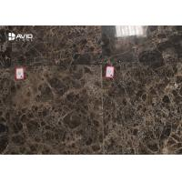 Dark Emperador Glossy Polished Marble Tile For Internal Wall Cladding 10mm