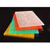 Quality Colorful Diamond Surface Polycarbonate Solid Sheet Lightweight 2-12mm for sale