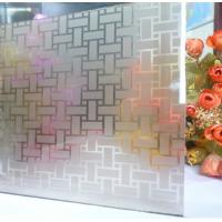 China Sinoy Custom Acid Etched Glass Windows , Frosted ISO Frameless Etched Glass factory